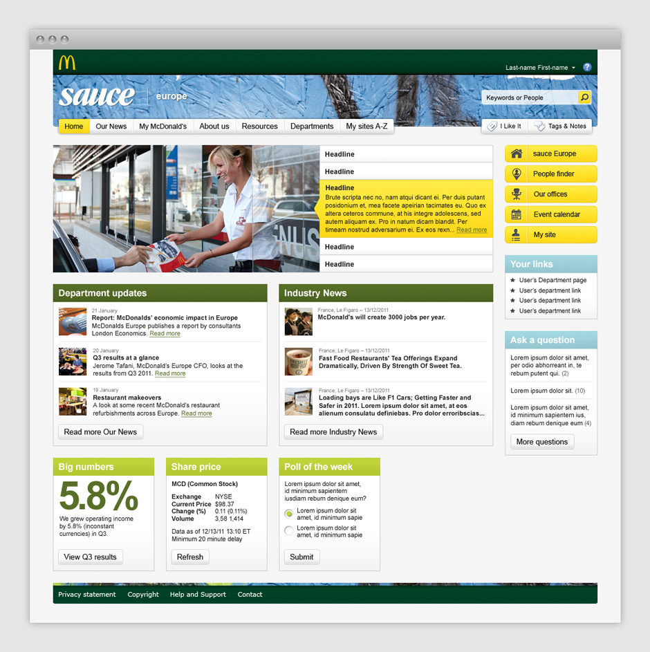 mcdonald u0026 39 s intranet